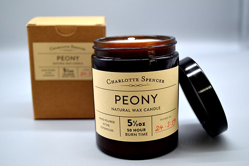 Peony 5.5 oz Natural Wax Candle
