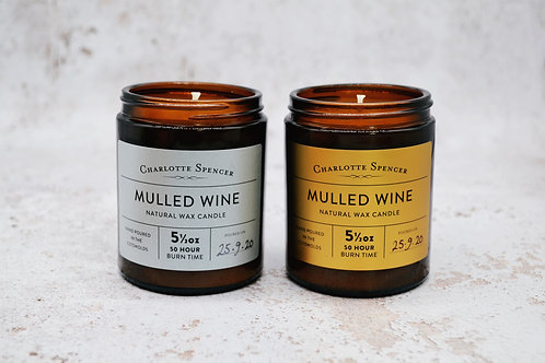 Mulled Wine 5.5 oz Natural Wax Candle