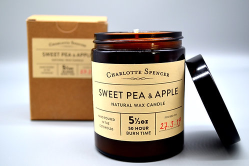 Sweet Pea & Apple 5.5 oz Natural Wax Candle