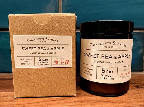 Sweet Pea & Apple 5.5oz Natural Wax Candle