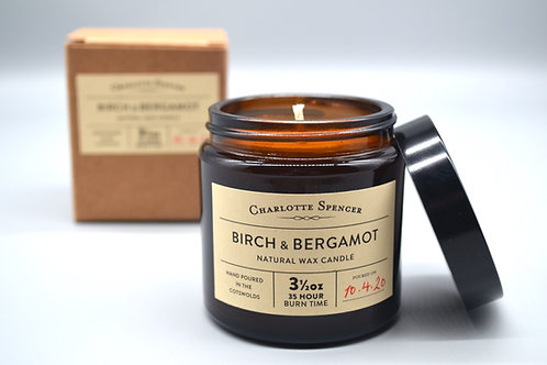 Birch & Bergamot 3.5 oz Natural Wax Candle