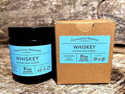 Whiskey 3.5 oz Natural Wax Candle
