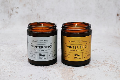 Winter Spice 5.5 oz Natural Wax Candle