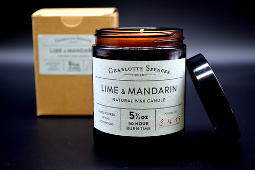 Lime & Mandarin 5.5 oz Natural Wax Candle