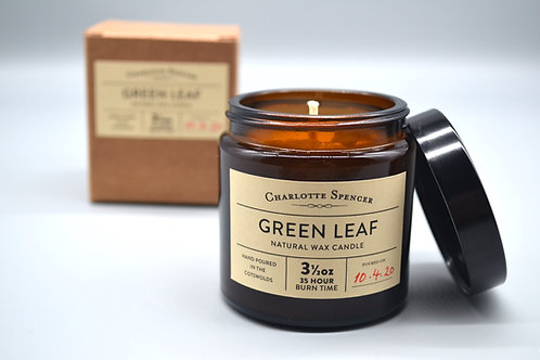 Green Leaf 3.5 oz Natural Wax Candle