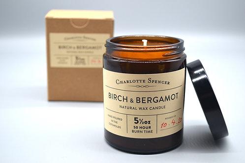 Birch & Bergamot 5.5 oz Natural Wax Candle