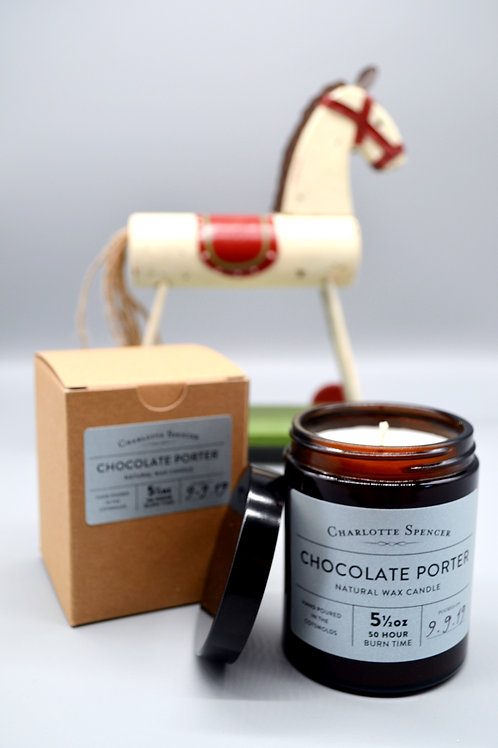 Chocolate Porter 5.5 oz Natural Wax Candle