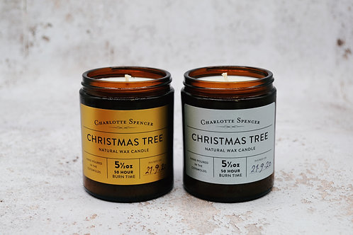 Christmas Tree 5.5 oz Natural Wax Candle