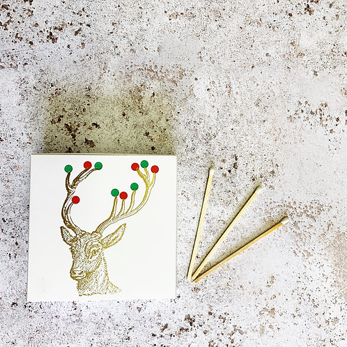 Luxury Boxed Matches - Christmas Stag