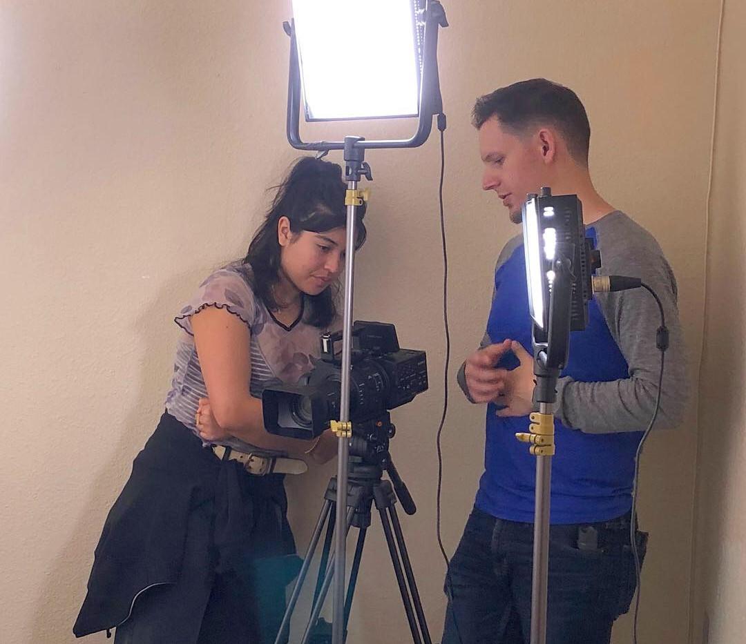 Elisha on set