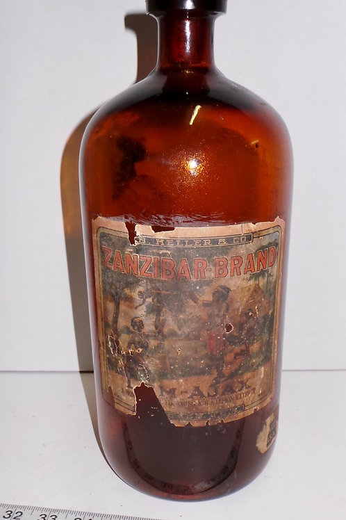 1920s Zanzibar Butterscotch Bottle