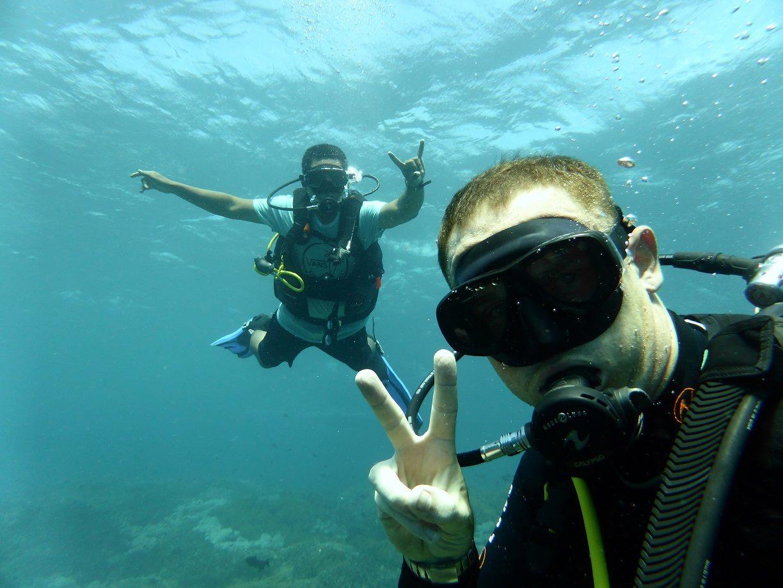 Adventure Scuba Diving Bali - Sam with local friend.jpg