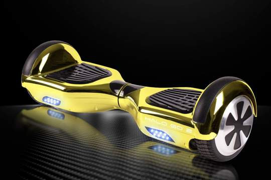 "Halo Go 2 Hoverboard 6.5"" - Chrome Gold"