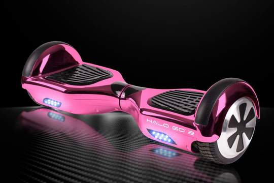 "Halo Go 2 Hoverboard 6.5"" - Chrome Pink"
