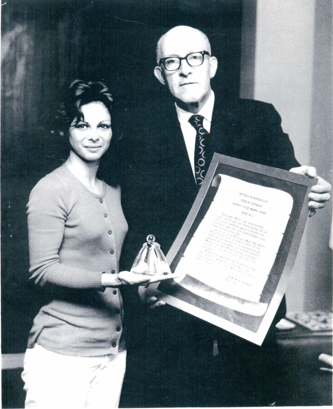 Sandra Radio City Award.JPG