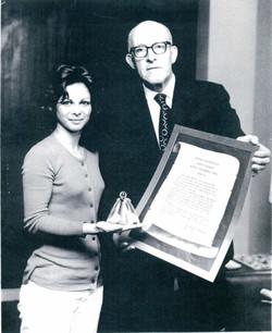 Sandra Radio City Award.JPG