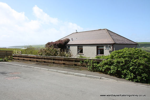 Front view of Cunningair, Wardbay Self Catering