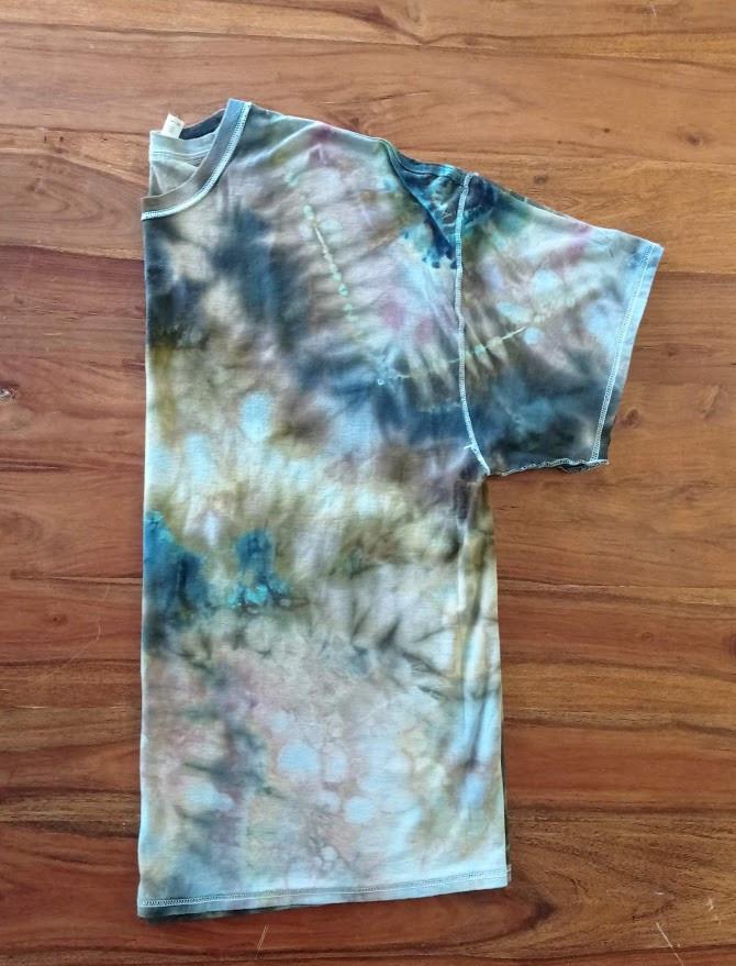 Fold the t shirt in half