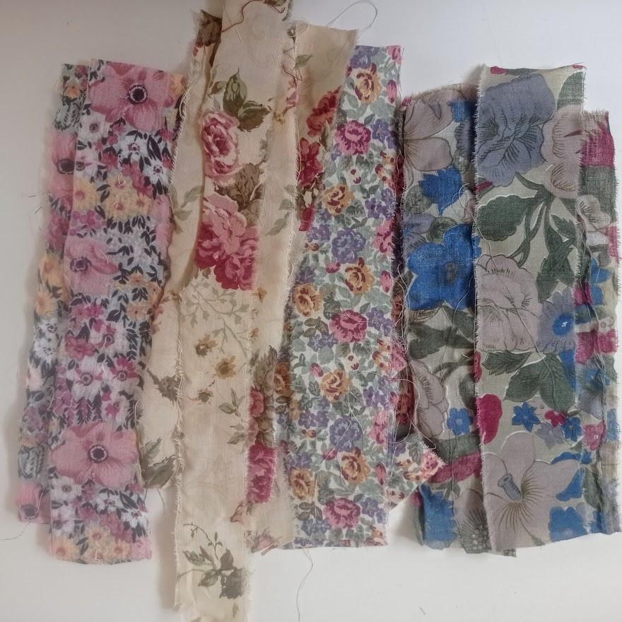 4 floral fabrics