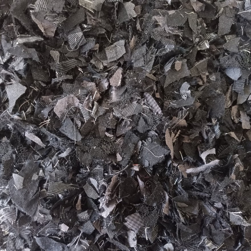 Grey black fabric confetti