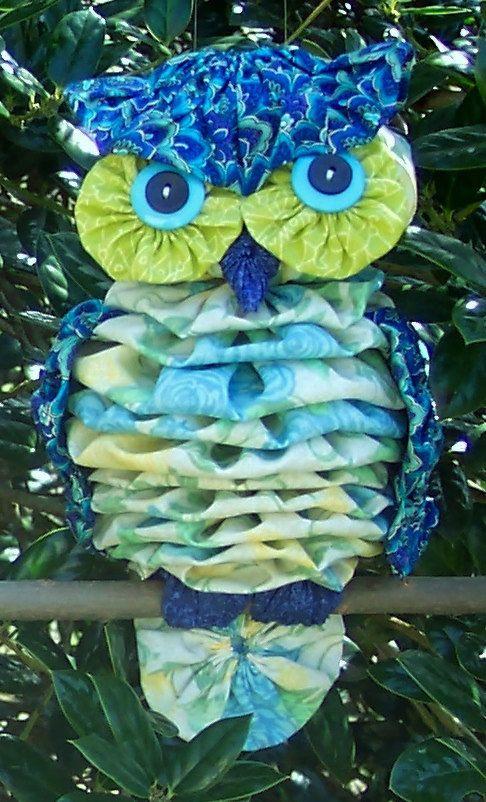 Fabric yoyo owl