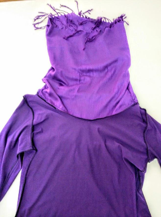 Stitched purple collar