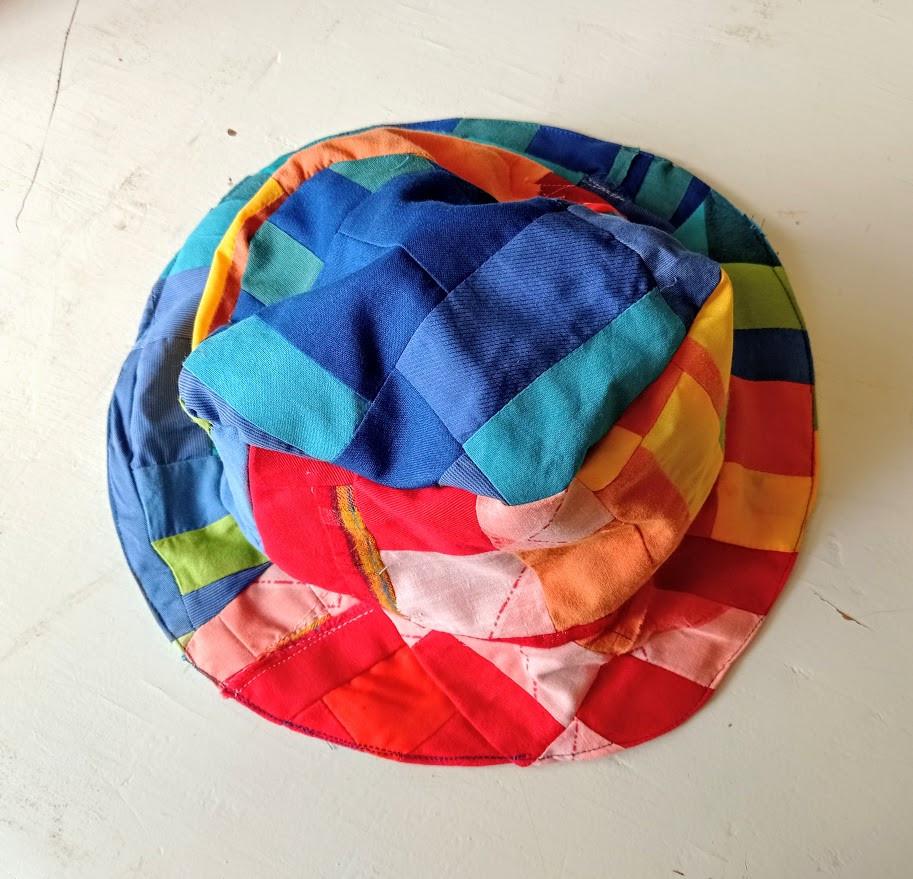 Crumb patchwork hat