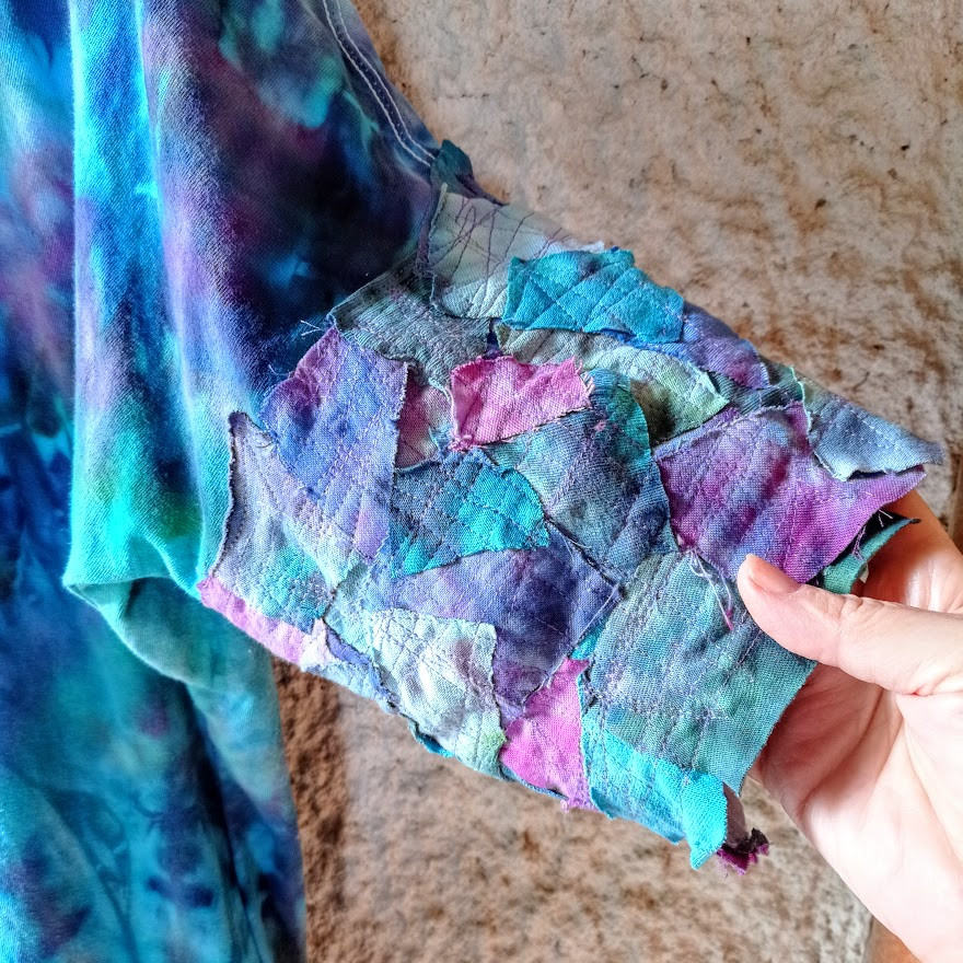 Mosaic patchwork sleeves