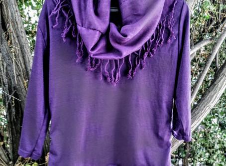 Purple Cowl Neck Shirt