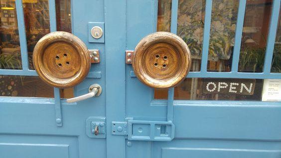 Button Door handles