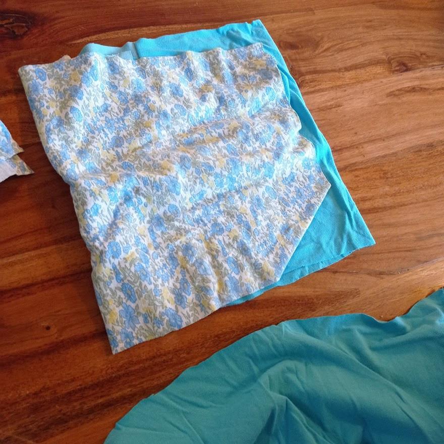 OCean colored fabrics