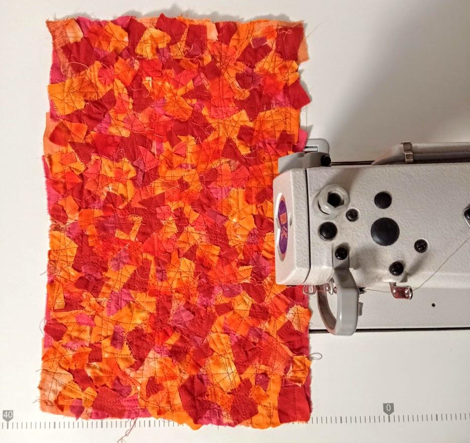 mosaic patchwork fabric