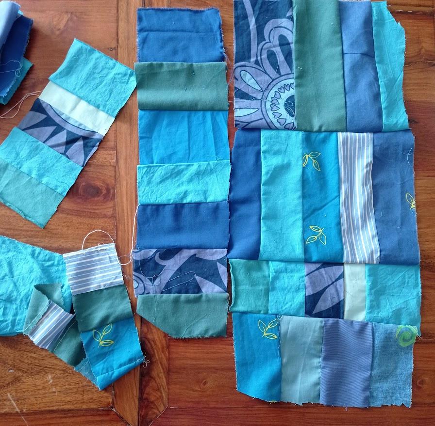 All the blue fabrics