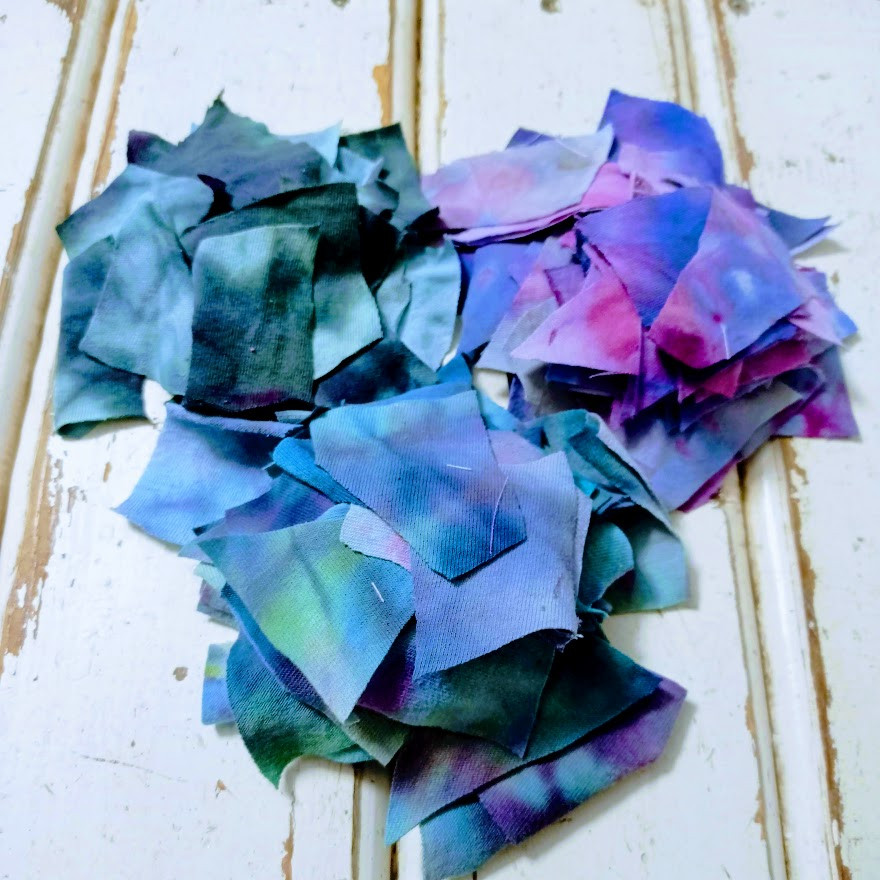 Tie dyed scraps