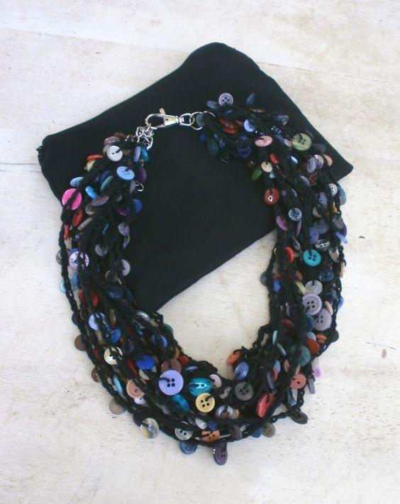 Button Necklace PriganArt