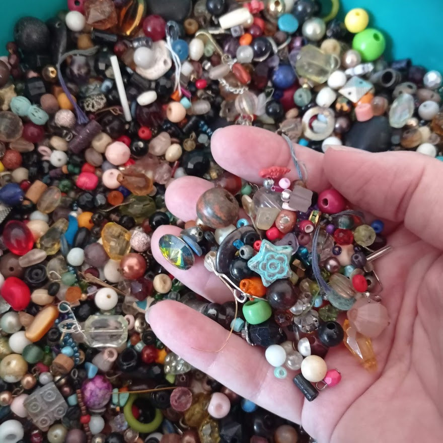 Selection of upcycled beads