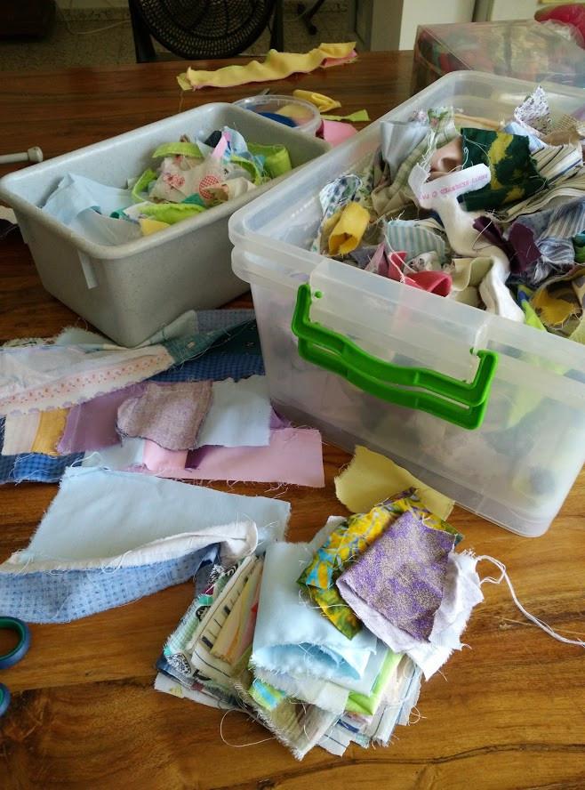 Fabric scrap box