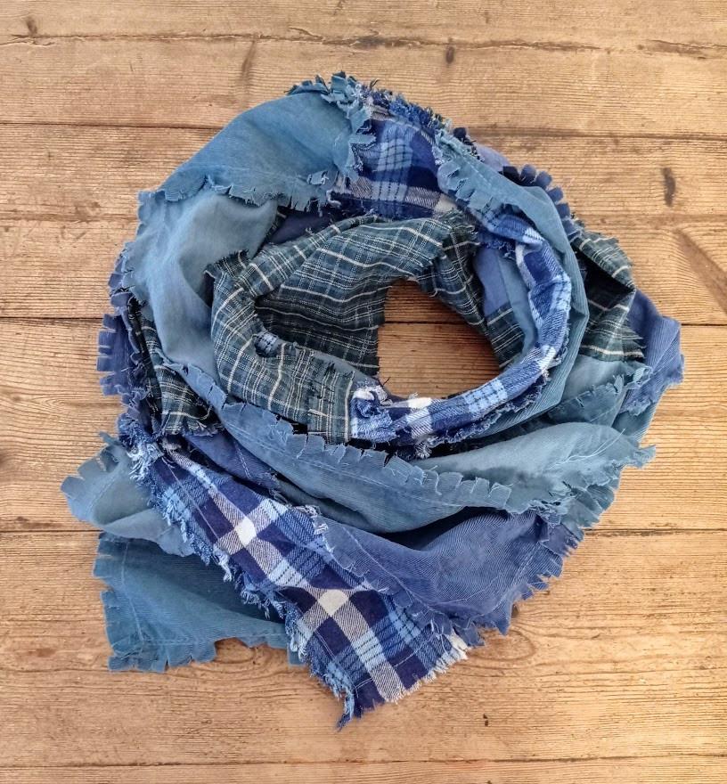 Ragged flannel scarf