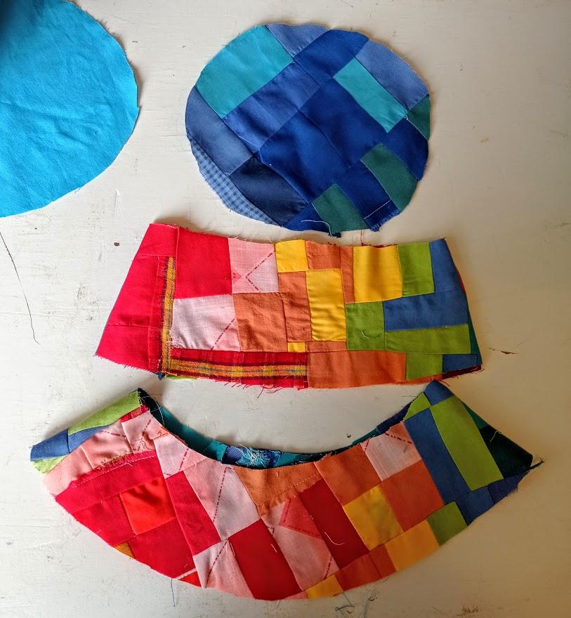Hat pattern pieces
