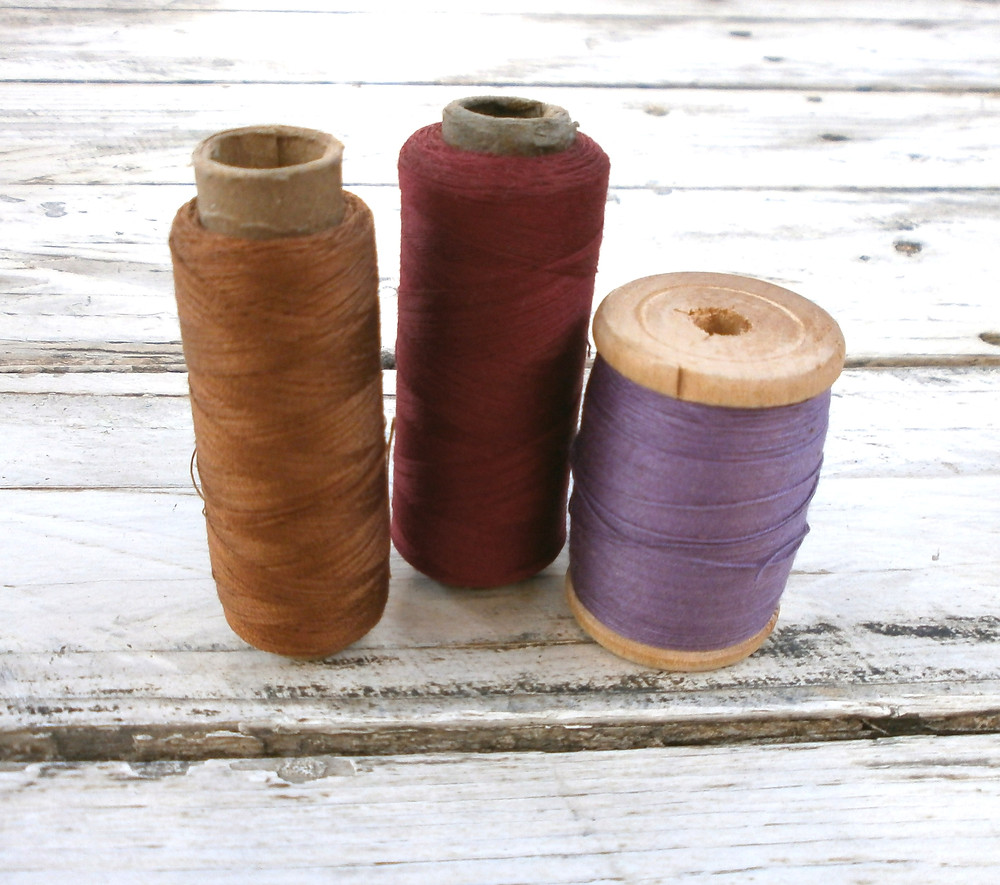 Russet and purple threads