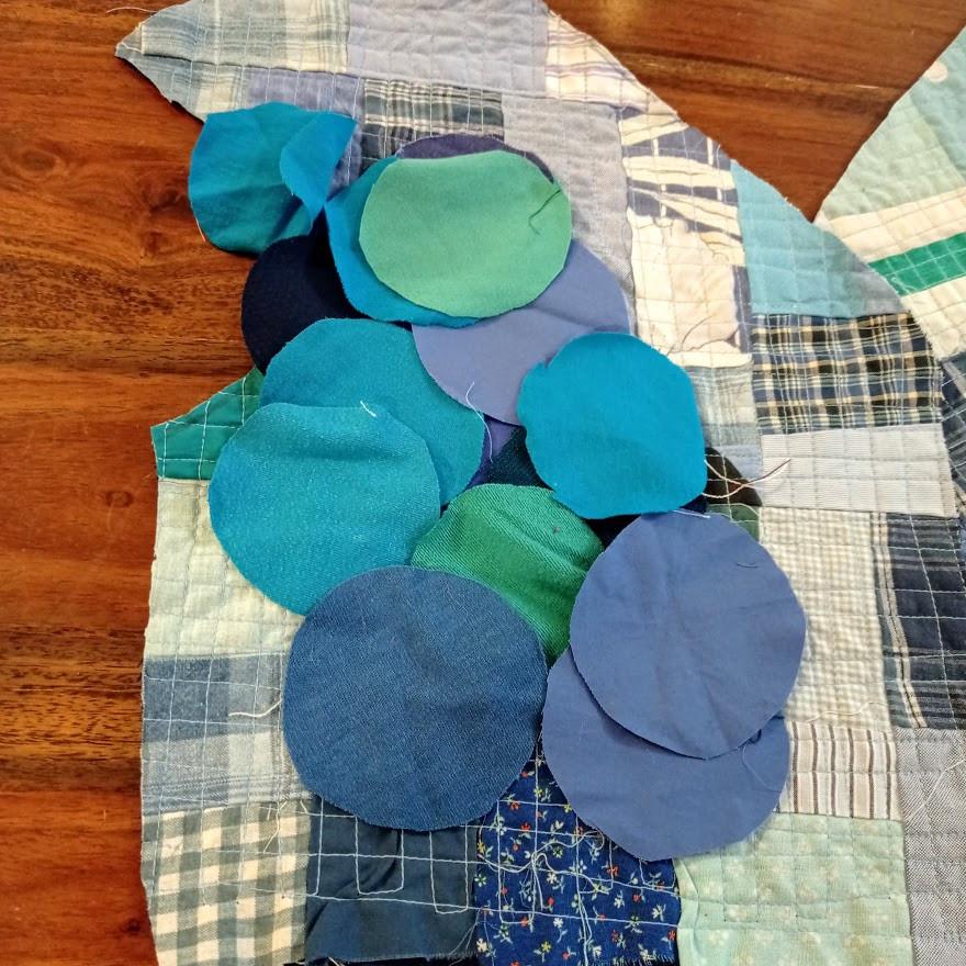 Choosing fabrics for yoyos