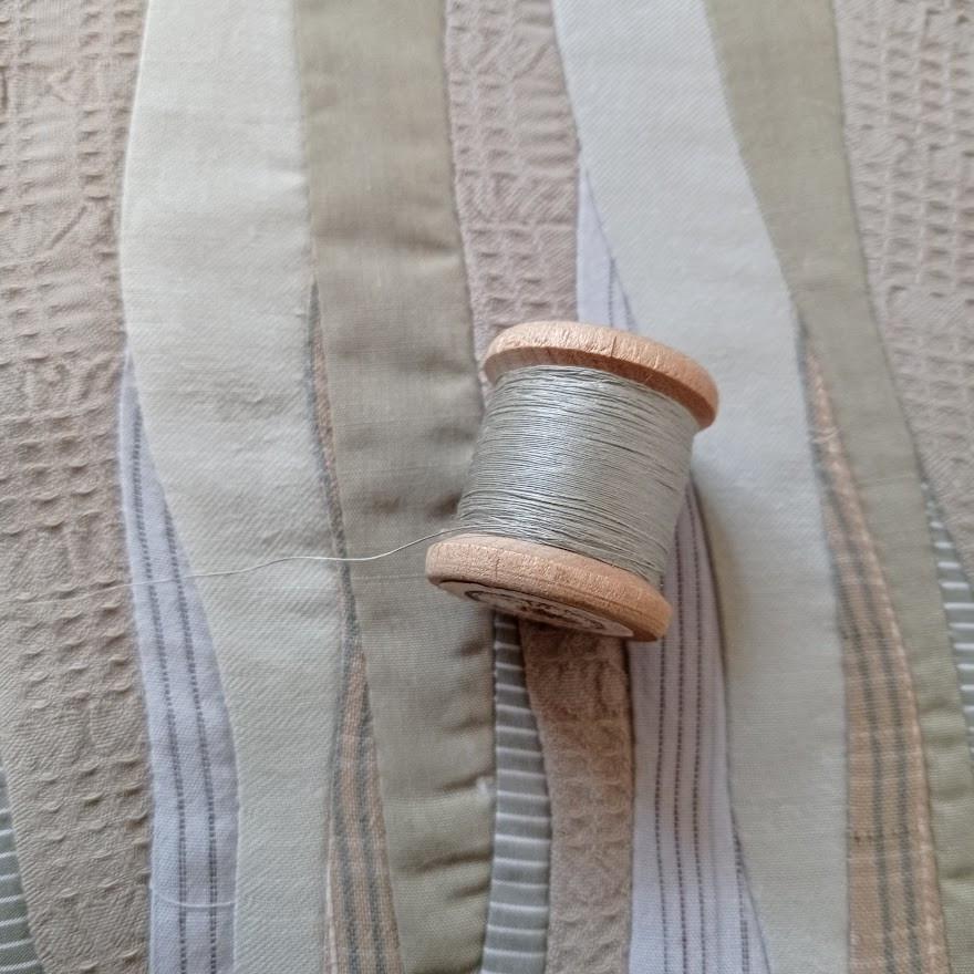 Pale green thread