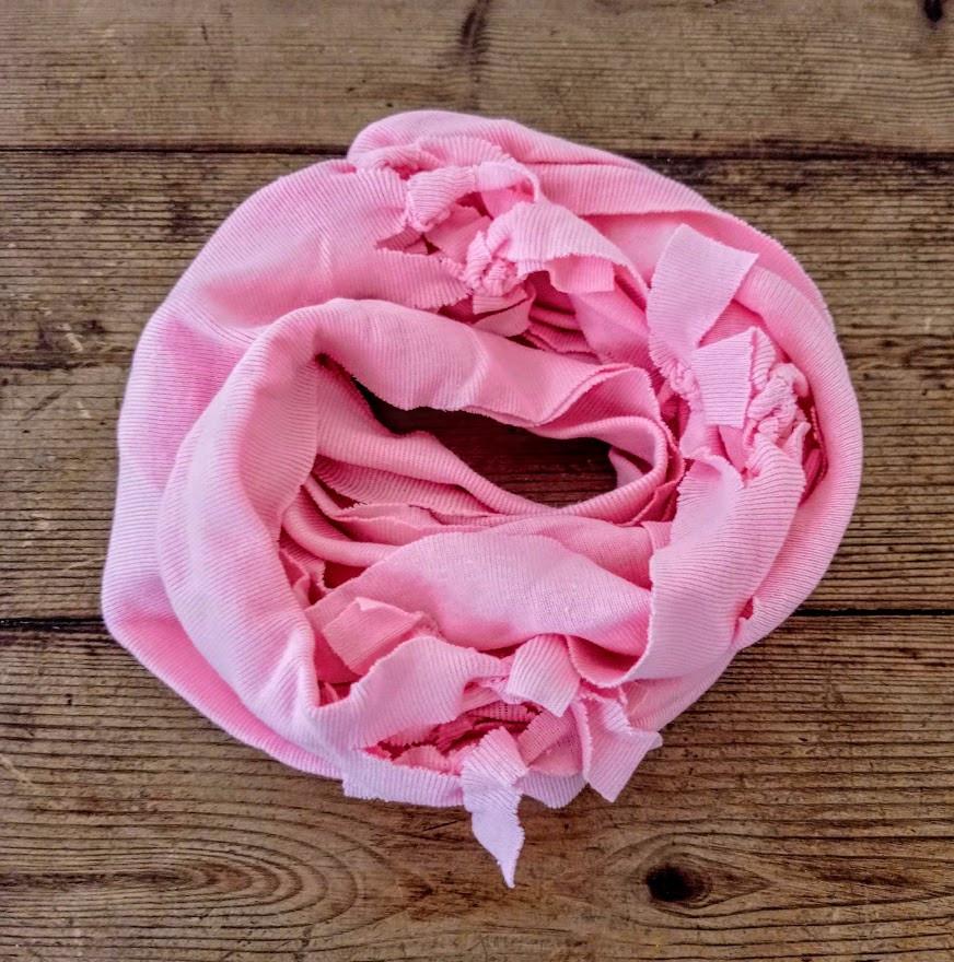 Rose pink t shirt scarf