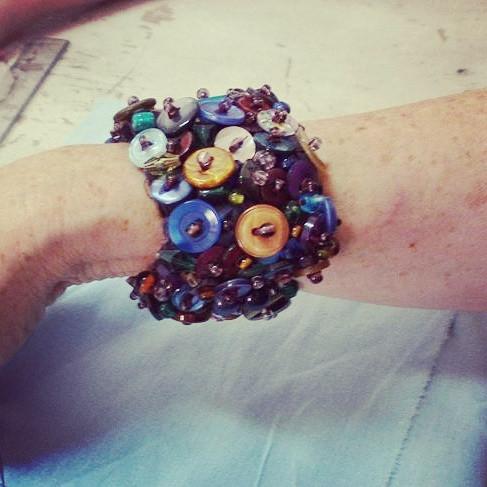 Button bracelet PriganArt