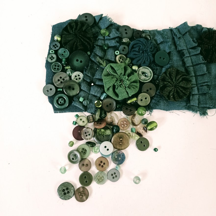 Green fabric bracelet
