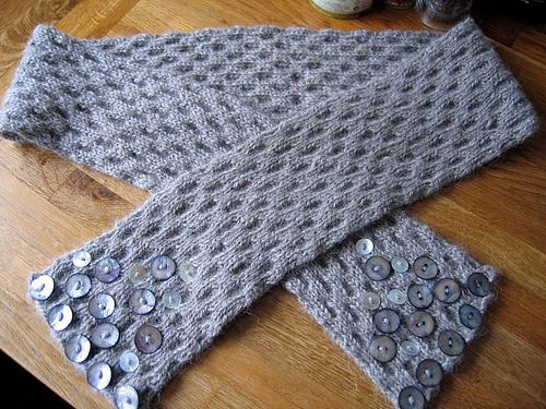 Button adorned scarf