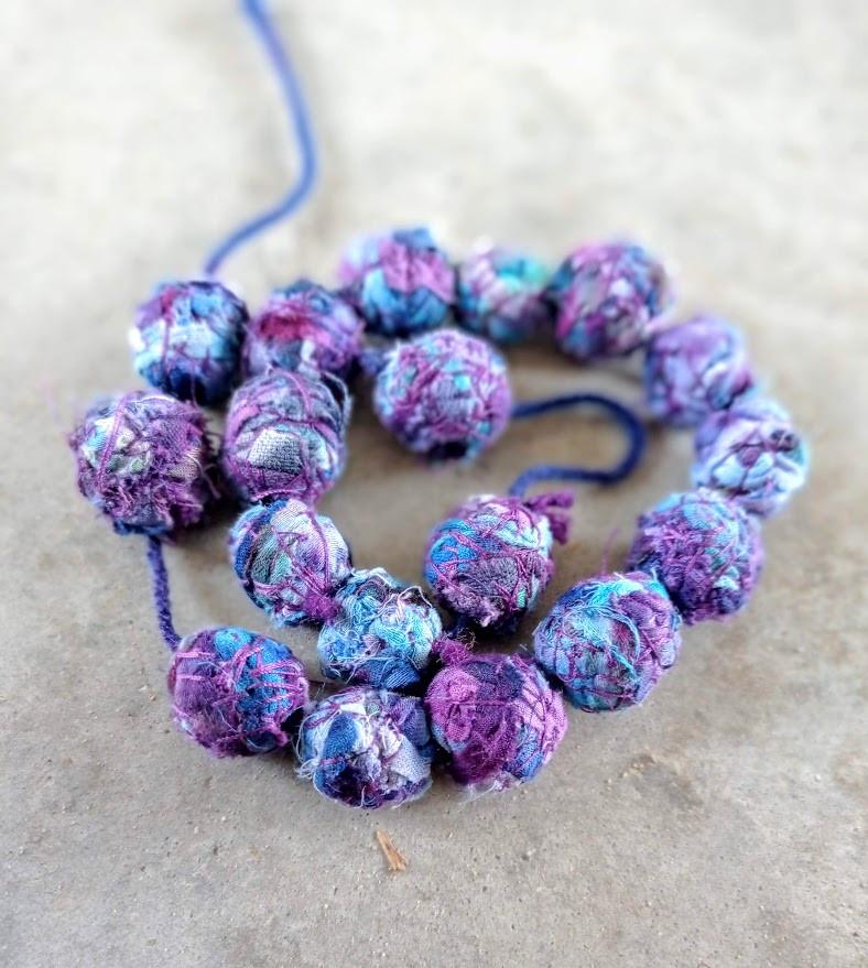 Fabric handmade beads
