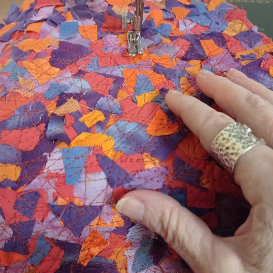 Tiny fabric pieces