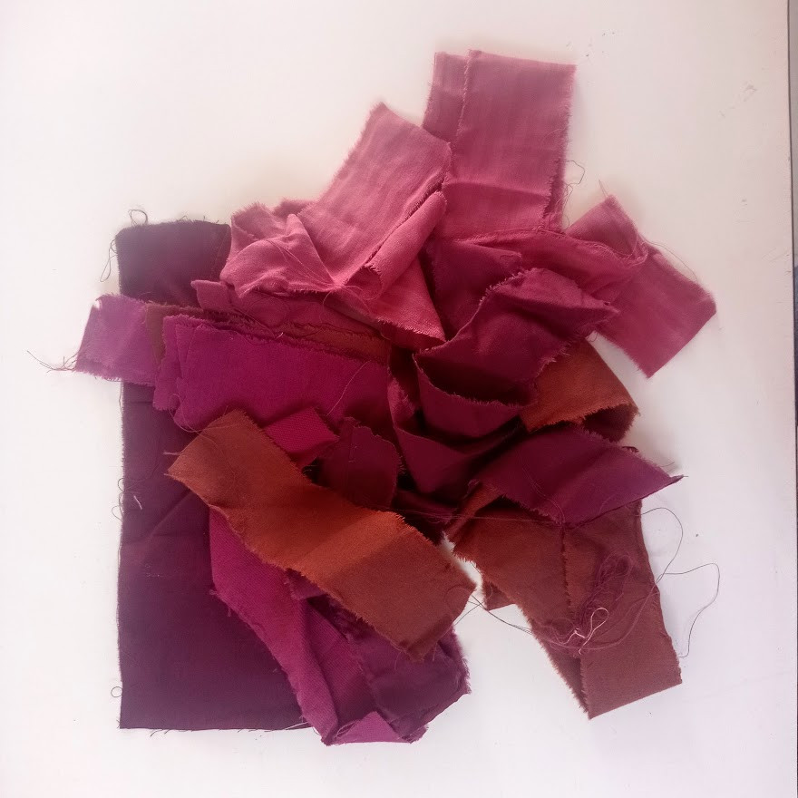Red and plum fabric