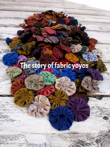 The story of fabric yoyos